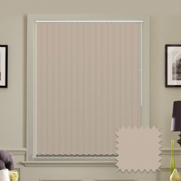 Unicolour Taupe 5 inch Vertical Blinds - made to measure